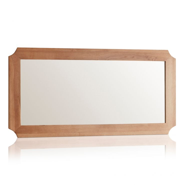 Cairo Natural Solid Oak 1200mm x 600mm Wall Mirror - Image 4