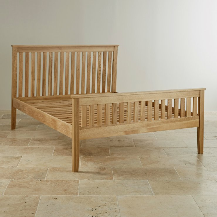 """Cairo Natural Solid Oak 4ft 6"""" Double Bed"""