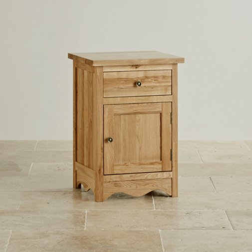 Cairo Natural Solid Oak Bedside Table
