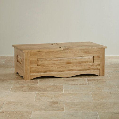 Cairo Natural Solid Oak Blanket Box