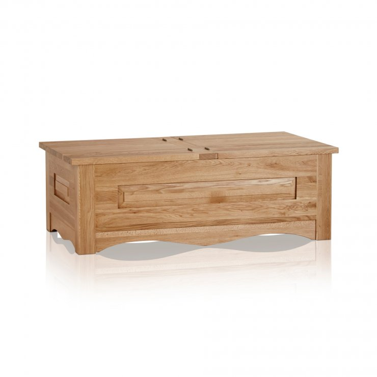 Cairo Natural Solid Oak Blanket Box - Image 4