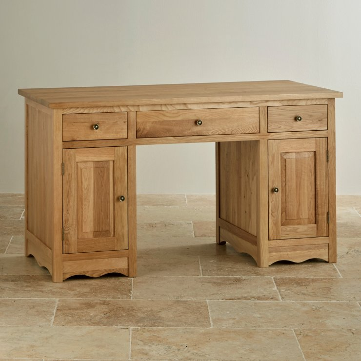 Cairo Computer Desk In Natural Solid Oak Oak Furniture Land