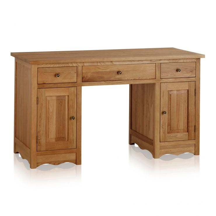 Cairo Natural Solid Oak Computer Desk - Image 1