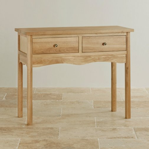 Cairo Natural Solid Oak Console Table