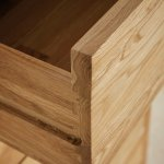 Cairo Natural Solid Oak Console Table - Thumbnail 3