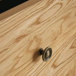 Cairo Natural Solid Oak Console Table - Thumbnail 4