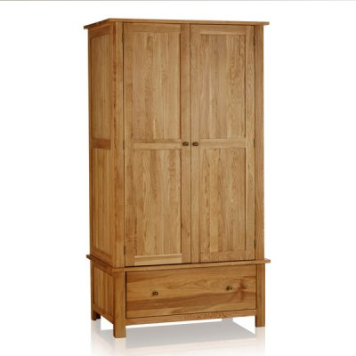 Cairo Natural Solid Oak Double Wardrobe