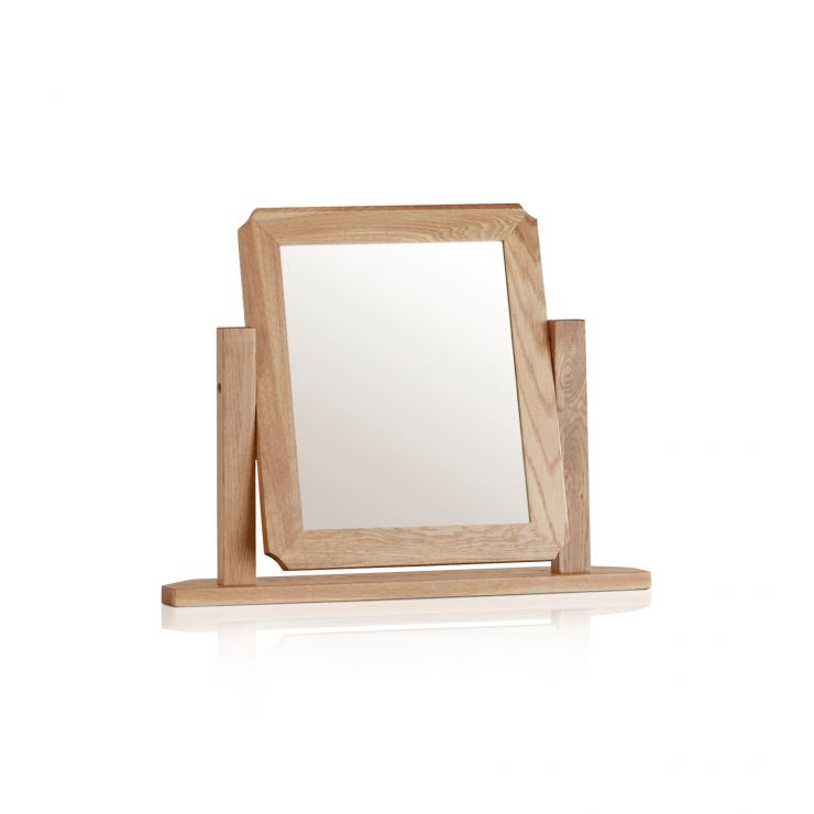 Cairo Natural Solid Oak Dressing Table Mirror - Image 4