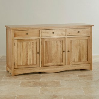 Cairo Natural Solid Oak Large Sideboard
