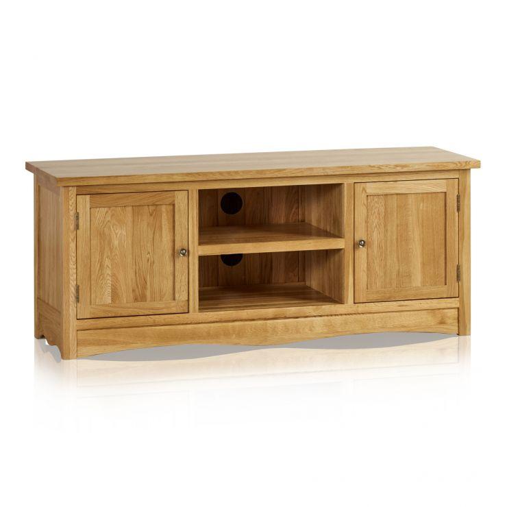 Cairo Natural Solid Oak Large TV Cabinet - Image 5