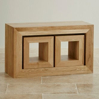 Cairo Natural Solid Oak 3 Cube Nest of Tables