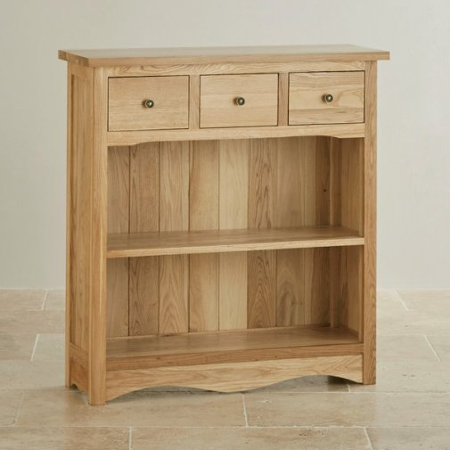 Cairo Natural Solid Oak Small Display Unit
