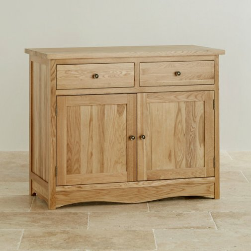 Cairo Natural Solid Oak Small Sideboard
