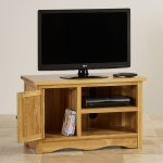 Cairo Natural Solid Oak Small TV Cabinet - Thumbnail 4