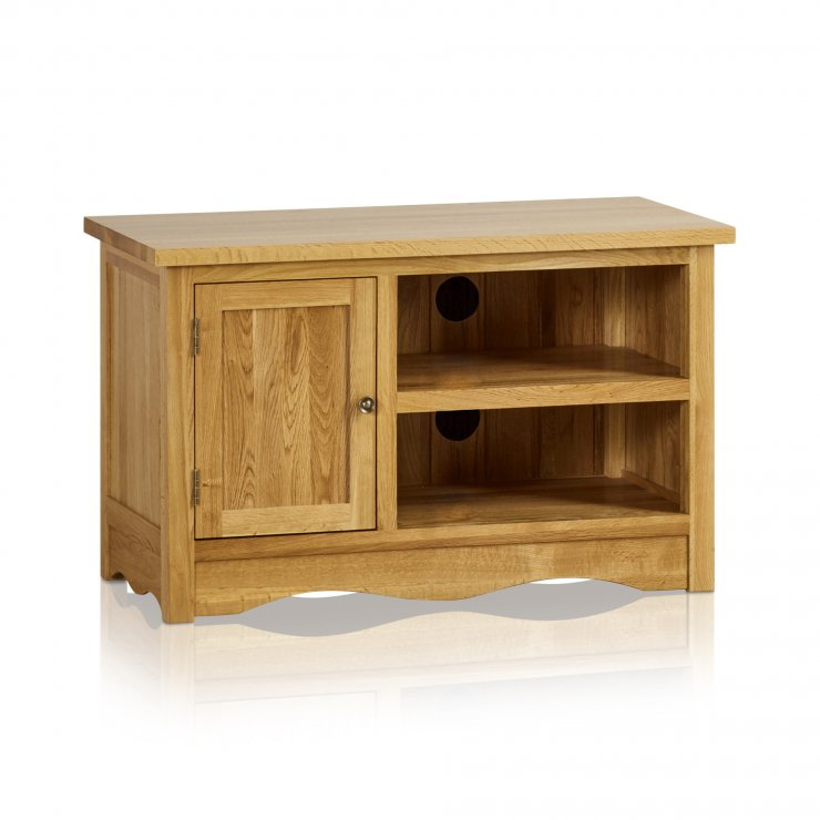 Cairo Natural Solid Oak Small TV Cabinet - Image 5