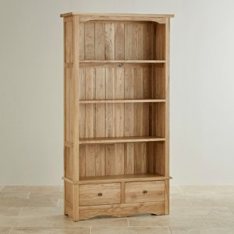 Cairo Natural Solid Oak Tall Bookcase