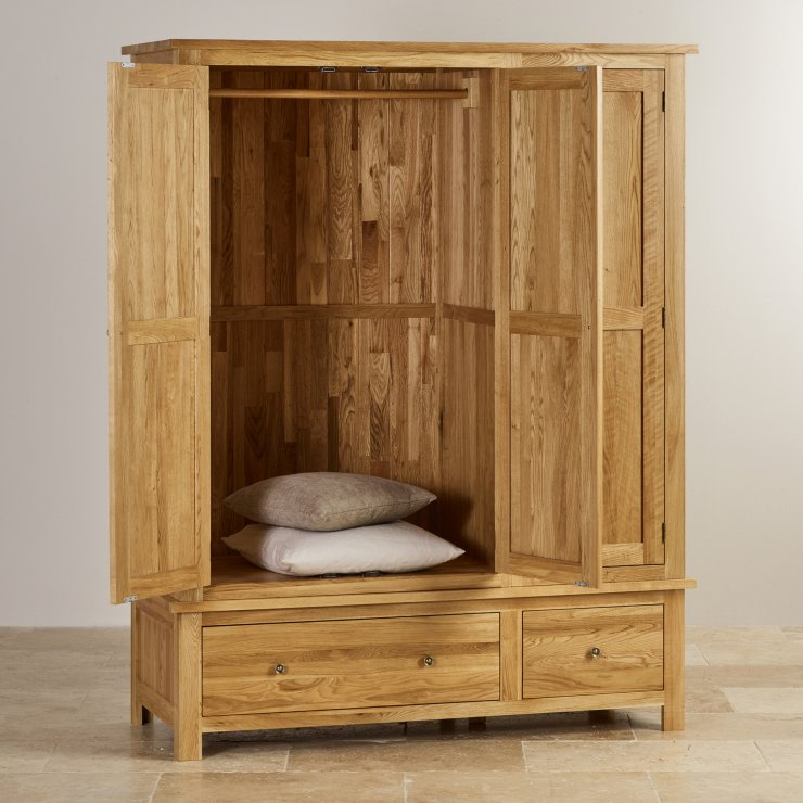 Cairo Natural Solid Oak Triple Wardrobe