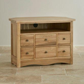 Cairo Natural Solid Oak Corner TV Cabinet