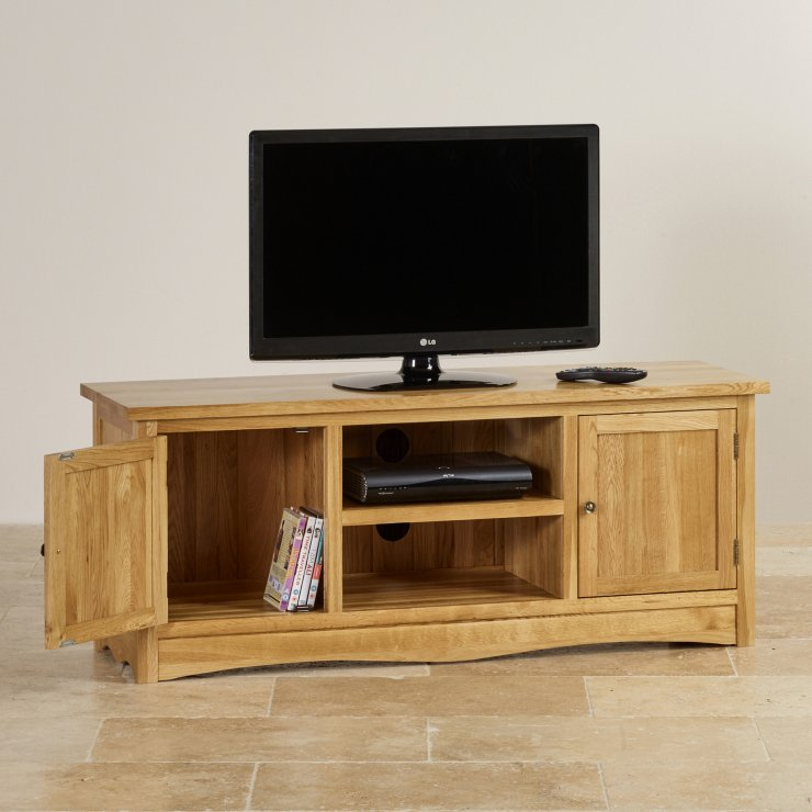 Cairo Natural Solid Oak Large TV Cabinet