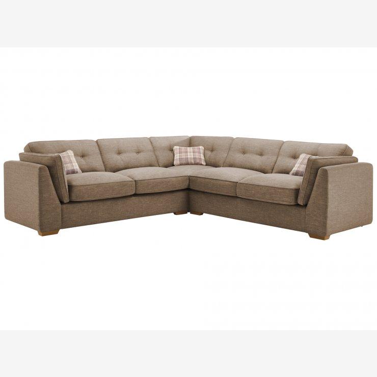 California 4 Seater High Back Corner Sofa in Civic Pebble