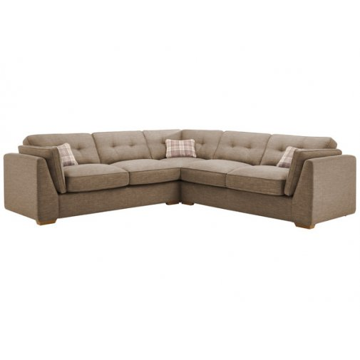 California 4 Seater High Back Corner Sofa in Civic Pebble