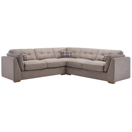 California 4 Seater High Back Corner Sofa in Civic Smoke