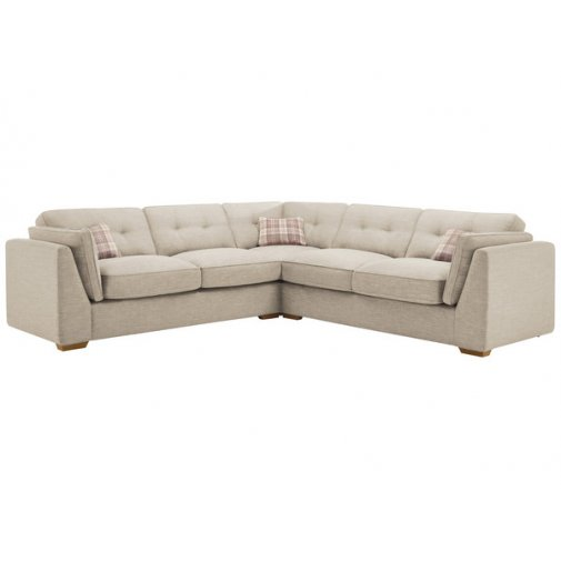 California 4 Seater High Back Corner Sofa in Civic Stone