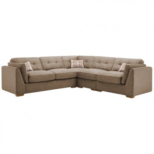 California Left Hand 4 Seater High Back Split Corner Sofa in Civic Pebble