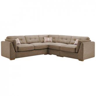 California Left Hand 4 Seater High Back Split Corner Sofa in Civic Pebble