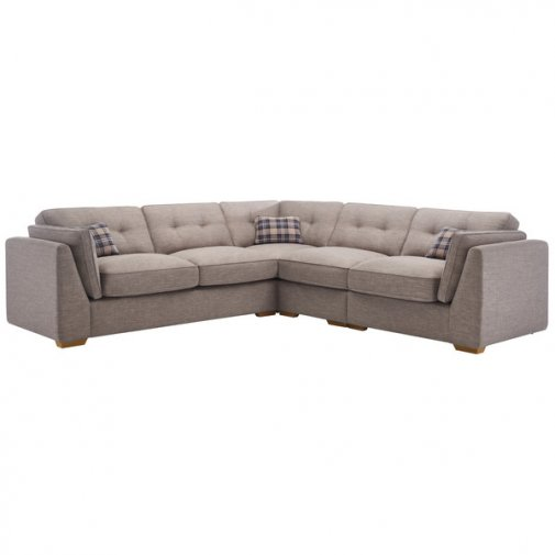 California Left Hand 4 Seater High Back Split Corner Sofa in Civic Smoke