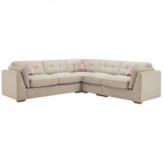 California Left Hand 4 Seater High Back Split Corner Sofa in Civic Stone