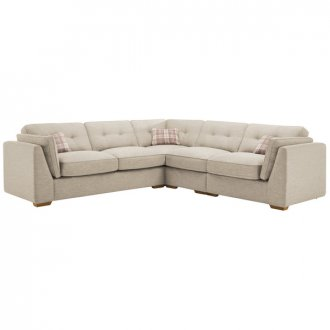 California Left Hand 4 Seater High Back Split Corner Sofa in Civic Stone
