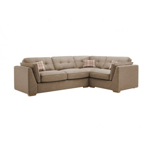 California Left Hand High Back Corner Sofa in Civic Pebble