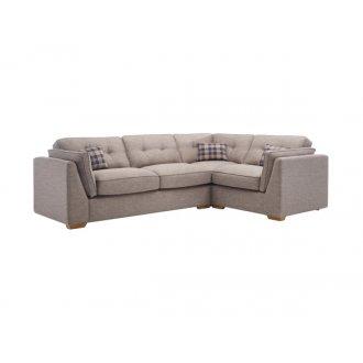 California Left Hand High Back Corner Sofa in Civic Smoke