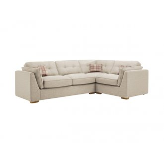 California Left Hand High Back Corner Sofa in Civic Stone
