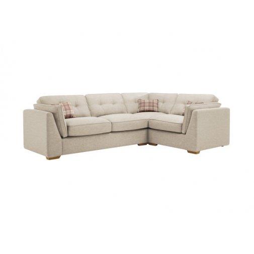 California Left Hand High Back Corner Sofa in Civic Stone