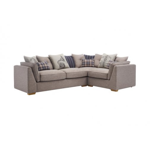 California Left Hand Pillow Back Corner Sofa in Civic Smoke