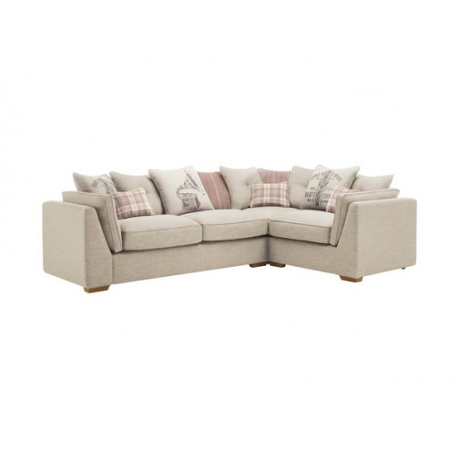 California Left Hand Pillow Back Corner Sofa - Civic Stone