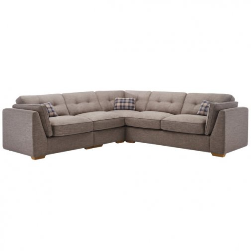 California Right Hand 4 Seater High Back Split Corner Sofa in Civic Smoke