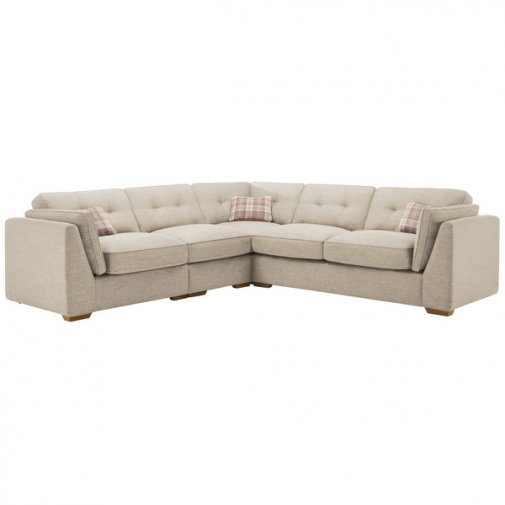 California Right Hand 4 Seater High Back Split Corner Sofa in Civic Stone