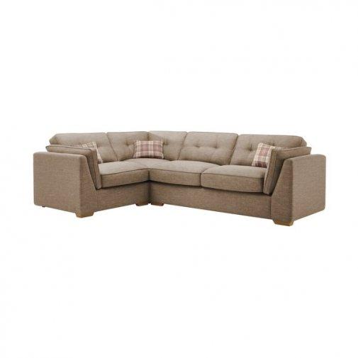 California Right Hand Corner High Back Sofa in Civic Pebble