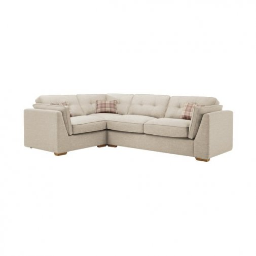California Right Hand Corner High Back Sofa in Civic Stone