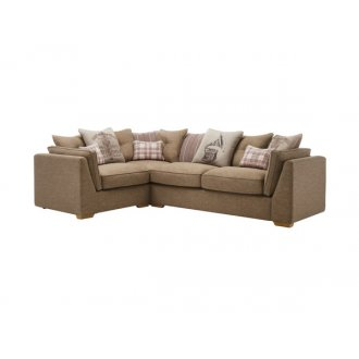 California Right Hand Corner Pillow Back Sofa in Civic Pebble