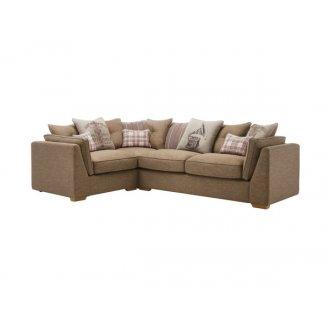 California Right Hand Corner Pillow Back Sofa in Civic Pebble