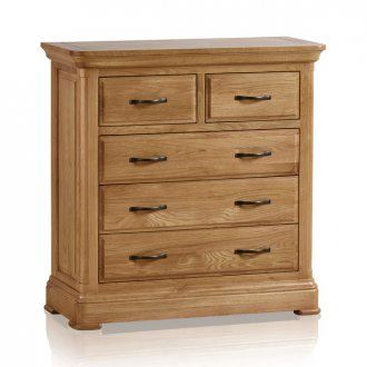 Canterbury Natural Solid Oak 3+2 Chest of Drawers
