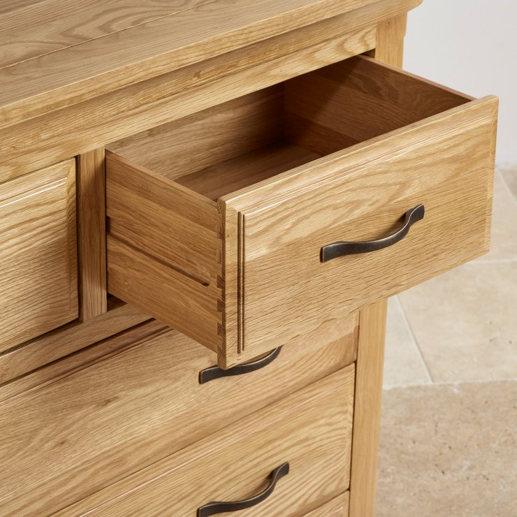 Canterbury Natural Solid Oak 3+4 Chest of Drawers