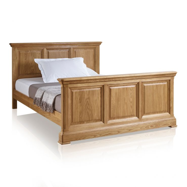 "Canterbury Natural Solid Oak 4ft 6"" Double Bed - Image 5"