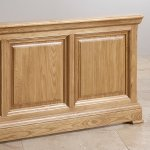 Canterbury Natural Solid Oak 5ft King-Size Bed - Thumbnail 4