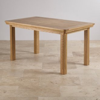 Canterbury Natural Solid Oak 5ft x 3ft Extending Dining Table