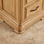 Canterbury Natural Solid Oak Bedside Table - Thumbnail 5